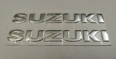 Suzuki 3D Silver Chrome Badge Logo Stickers Graphics Decals Superbike Gsxr Gsr