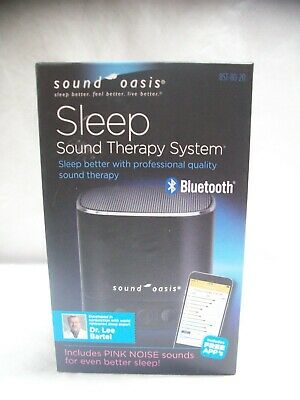 Sound Oasis Sleep Sound Therapy System W/Bluetooth, Includes Pink Noise Sounds