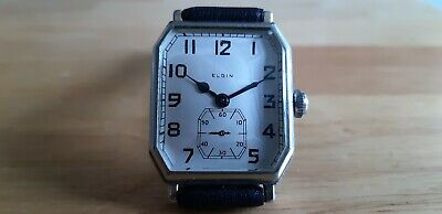 Vintage Art Deco Elgin octagonal watch working