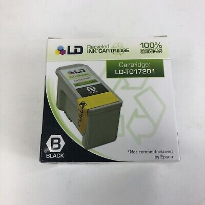 NIB LD Recycled Ink Cartridge Suitable for Epson 1000 1000ics BlackT017201 Exp