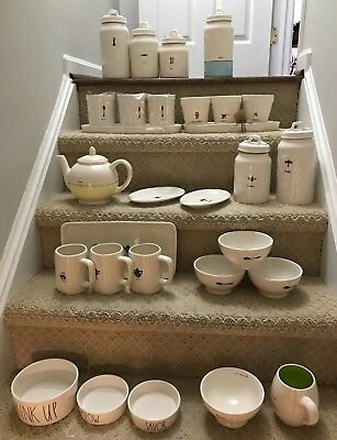NEW Rae Dunn YOU CHOOSE Garden, Mix Measure. Sip Bowls.Canister,Plates & more