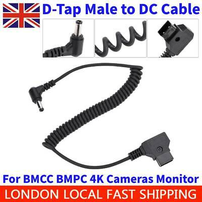 D-Tap Male to DC 5.5 * 2.5mm Plug Power Cable for BMCC BMPC 4K Cameras Monitor