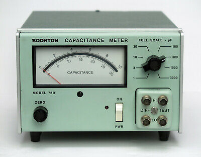 BOONTON 72B 1MHz 1-3000 pF Full Scale Analog Capacitance Meter