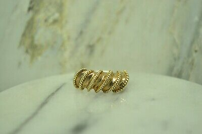 925 Sterling Silver Spiral Spiny Wrap Rope Detailed Ring Size 6.75  #25303