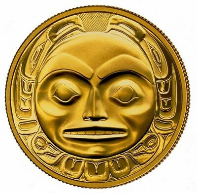 """1997 CANADA $200 HAIDA Mask """"THE RAVEN"""" 22k 1/2oz GOLD Proof COIN ONLY  RARE!"""