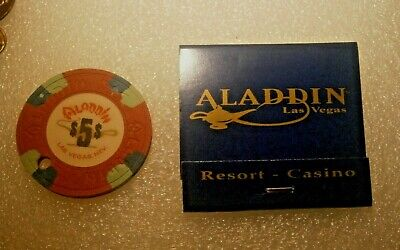 Vintage Aladdin $5 Casino Chip Las Vegas Special Promo Read Description