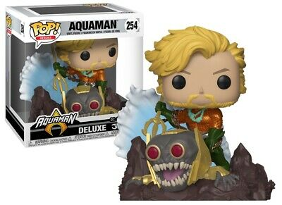 Funko Pop! Aquaman #254 Deluxe DC Jim Lee Collection Game Stop Exclusive Limited