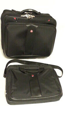 Wenger Swiss Army Gear carry-on rollaway w 4 pockets plus a laptop bag