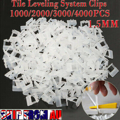 1000-4000X Tile Leveling System Clips Levelling Spacer Tiling Tool Floor Wall OZ