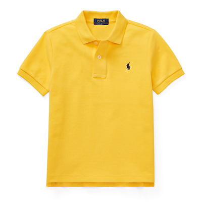 New Infant Toddler Kids Polo Ralph Lauren Pony Short Sleeve Shirt Yellow Sz 2T