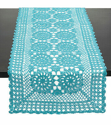 Fennco Styles Handmade Crochet Lace Cotton Table Runner, Many Colors & Sizes