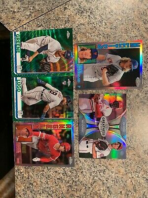 2019 Topps Chrome Baseball Refractor Lot 40 (green,1984, Prism,Sepia & Silver)