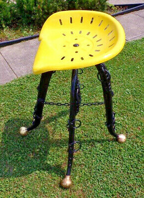 Vintage Horse Hames & Tractor Seat Made Into A Stool