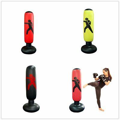 Kid/Adult Inflatable Boxing Punching Bag MMA Kick Training Tumbler Sandbag 1.6m