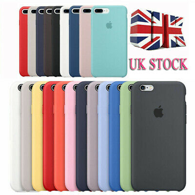 Genuine Original Hard Silicone Case Cover for Apple iPhone 8 7 6S Plus X XS Max