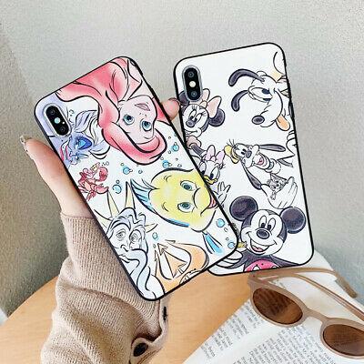Cartoon Disney Leather Silk Pattern Case Cover For iPhone X 6 7 8 Plus XR XS MAX