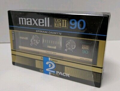 2x Maxell UD XL II 90 Blank Audio Cassette Tape Made In Japan