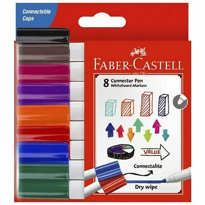 Faber-Castell Connector Whiteboard Markers Wallet/8 Assorted