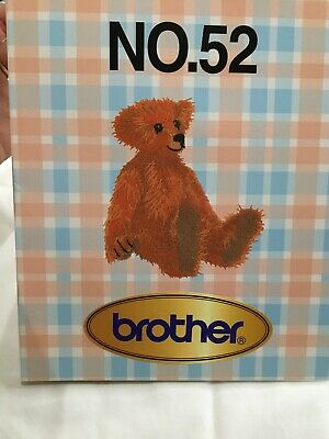 Brother Teddy Bear NUmber No. 52 Embroidery Card Designs