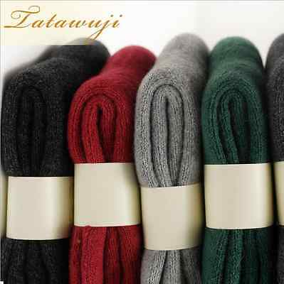 5 Pairs Wool Cashmere Men Women Luxury Thick Warm Dress Casual Solid Socks Gift