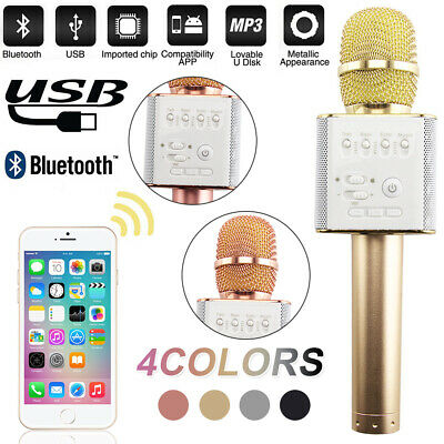 UK MINI Q7 Wireless Bluetooth Magic Karaoke Microphone Speaker USB mic Speaker