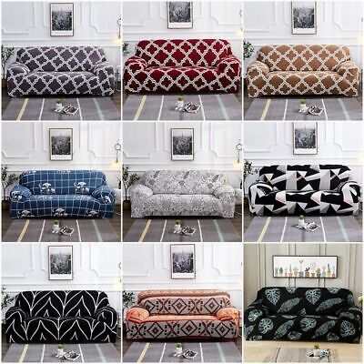 1/2/3/4 Sofa Cover Couch Slipcover Stretch Elastic Fabric Settee Protector Decor