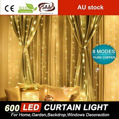 Warm White 500 LED 100M Fairy String Lights Christmas Tree Xmas Party Wedding