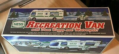Hess Truck 1998 RV with DUNE BUGGY & MOTORCYCLE  - NEW IN BOX