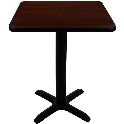 Canteen Table Kit Diy Column Crossbar Base Double Sided Tabletop Dining Cafe Red