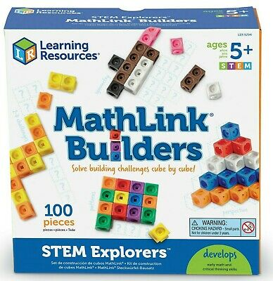 Learning Resources STEM Explorers Mathlink Builders 100 Cube Set