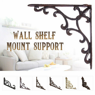 Cast Iron Wall Shelf Mount Bracket Support Corner Triangle Brace L Shape Bracket