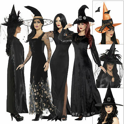 Smiffys Womens Witch Costumes & Accessories Ladies Halloween Fancy Dress Outfits