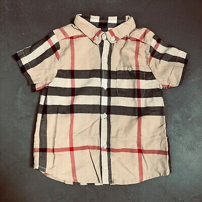 Burberry Iconic Check Short Sleeve Baby Shirt - 12 Months - Used