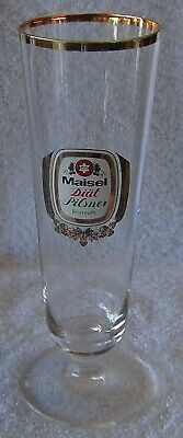 MAISEL/'S BEER GLASS WITH GOLD RIM