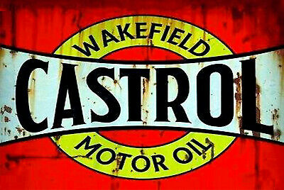 Castrol Wakefield motor oil brand new tin metal sign MAN CAVE