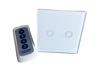 2 Channel Wireless Light Switch Remote Control On-Off Wall