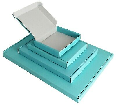Satin Light Blue Mini A6 A5 A4 Pip Boxes Large Letter Shipping Baby Turquoise