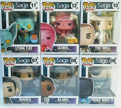 Lot of 6 Funko POP SAGA Bundle Set The Will, Lying Cat, Marko, Alana, Izabel