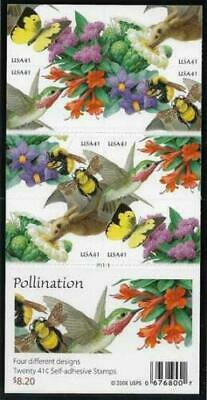 Pollination Booklet Pane Scott 4156d Collectible USA Postage Stamps 2007
