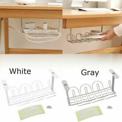 Under Desk Cable Management Tray Storage Organizer Wire Cord Power Charger Plug-