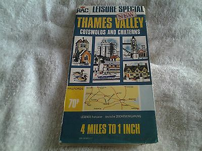 1970s RAC Leisure Special, map of  THAMES VALLEY  (COTSWOLDS & CHILTERNS)