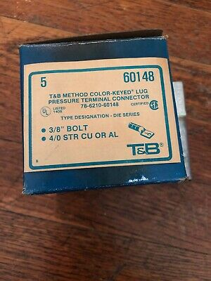 Lot Of 5 THOMAS & BETTS 60148 COMPRESSION LUGS (t30)