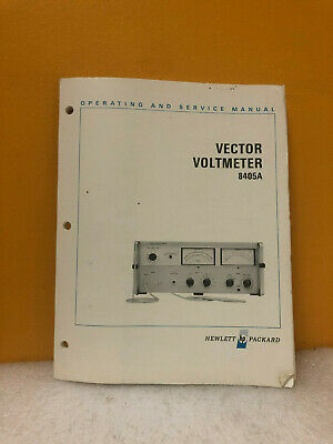 HP 08405-90024 8405A Vector Voltmeter Operating & Service Guide