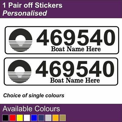 name British waterways//Canal /& River Trust License// Boat number sticker x 2