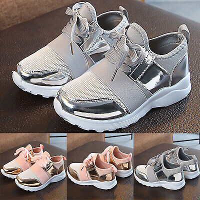 Kids Boys Girls Mesh Trainers Sneaker Children Comfort Sport Athletic Shoes Size