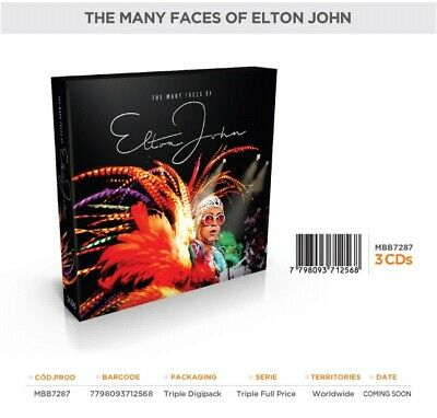 "ELTON JOHN ""The Many Faces Of Elton John"" 3 X Cd Set - Brand New"