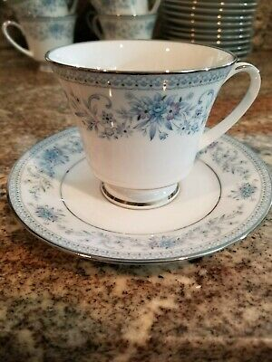 Noritake BLUE HILL #2482 Contemporary Fine China - Coffee Cup/ Saucer
