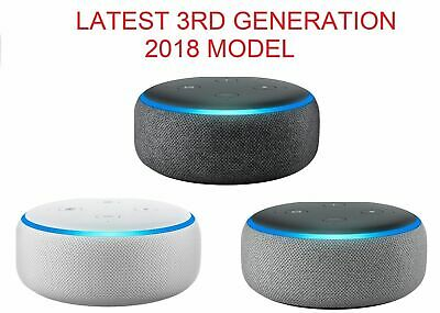 Amazon Echo Dot alexa 3rd generation white Sandstone Charcoal Gray NEW SEALED