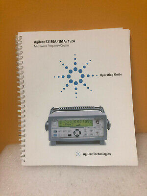 Agilent 53150A/151A/152A Microwave Frequency Counter Operating Guide