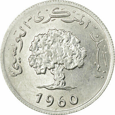 [#536201] Coin, Tunisia, 2 Millim, 1960, Paris, MS(60-62), Aluminum, KM:281